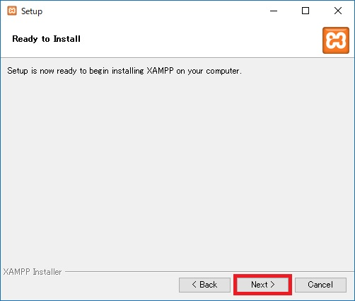 PHP XAMPP インストール 5