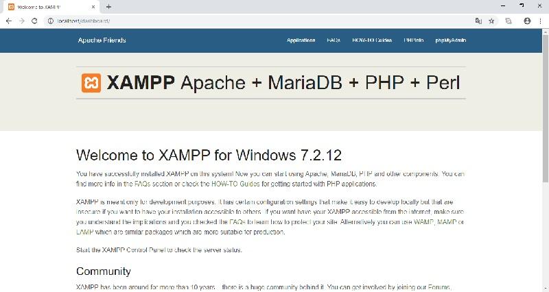 PHP XAMPP localhost